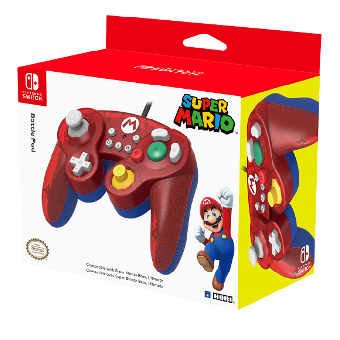Hori Battle Pad for Nintendo Switch. Mario