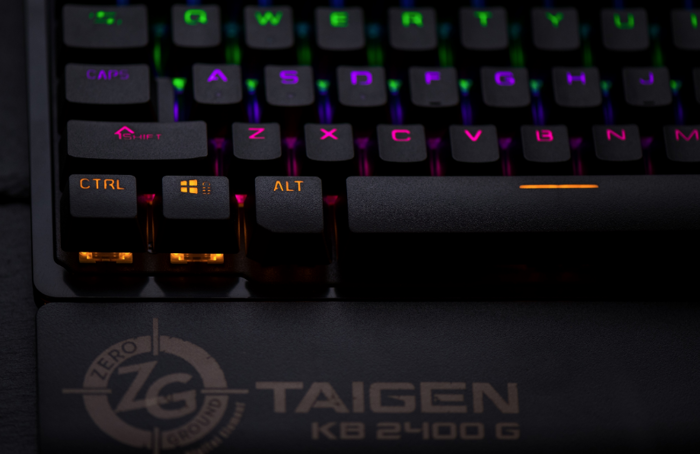 Zeroground Mechanical Keyboard KB-2400G TAIGEN v2.0, Black