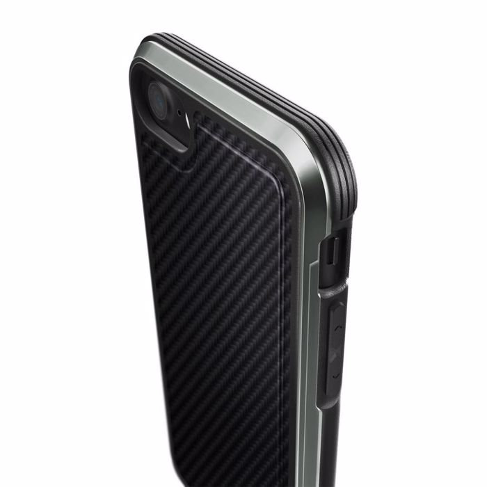 X-Doria Defense Lux for iPhone 8/7, Black Carbon