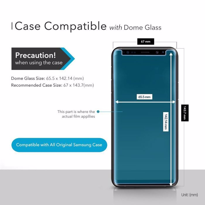Whitestone Dome Tempered Glass for Samsung Galaxy S9 Plus