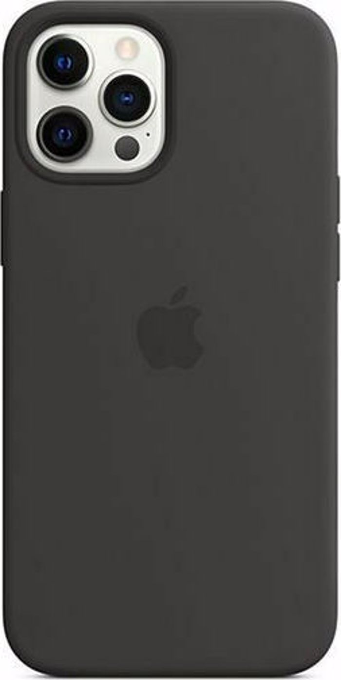 Apple Silicone Case with MagSafe for iPhone 12 Pro Max. Black