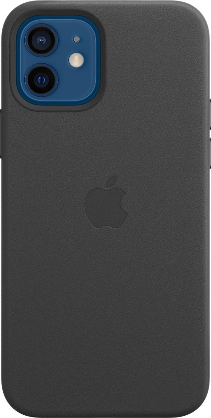 Apple Leather Case with MagSafe for iPhone 12 Pro/12. Black