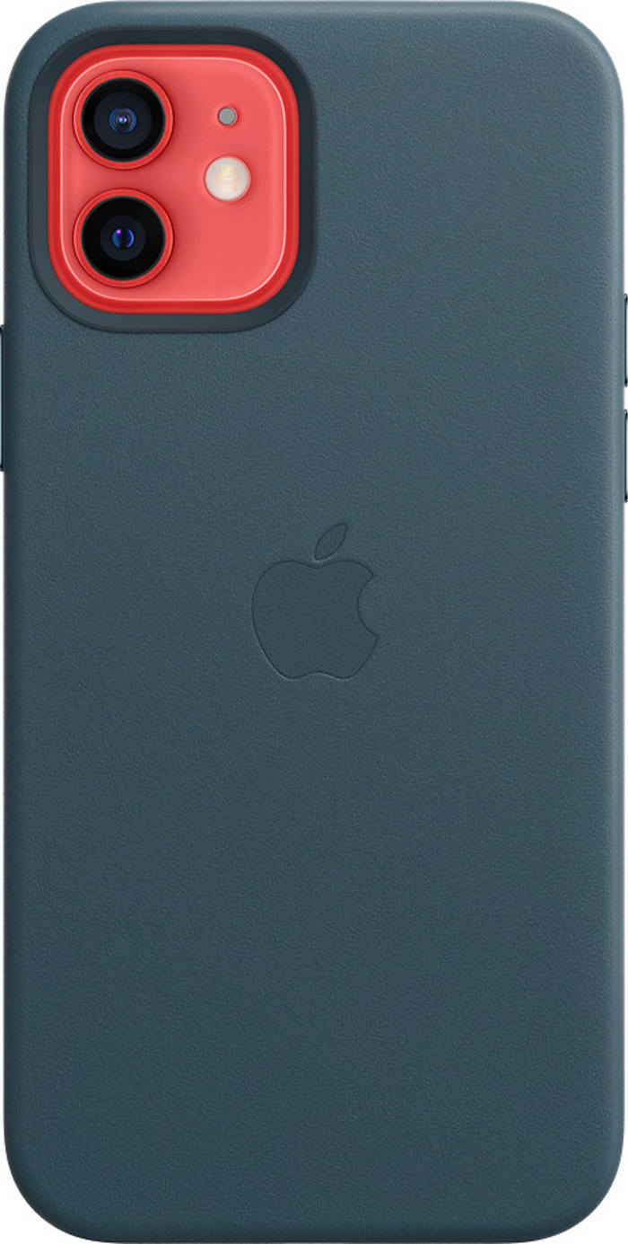 Apple Leather Case with MagSafe for iPhone 12 Pro/12. Baltic Blue
